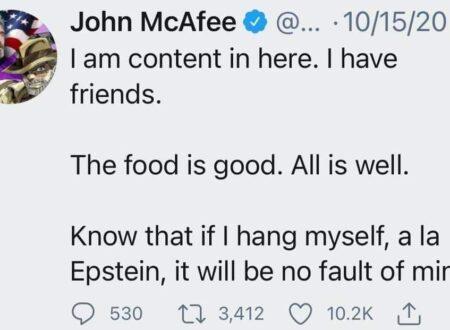 LA MORTE DI JOHN MCAFEE: TUTTI I SOSPETTI