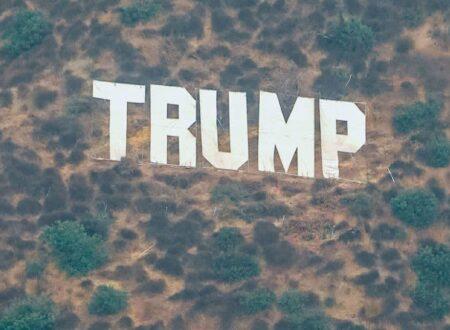 "SPUNTA UN CARTELLO ""TRUMP"" IN CALIFORNIA"