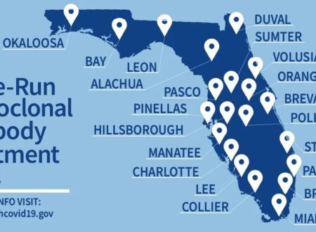 FLORIDA: 21 SITI DI TRATTAMENTO ANTICORPALE MONOCLONALE